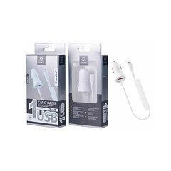 Woox 1usb iphn car charger WA2414 White