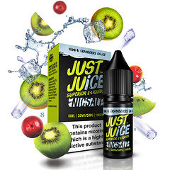 Just Juice Kiwi & Cranberry On Ice 10ml Nic Salt