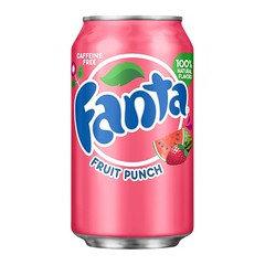 Fanta Fruit Punch Flavoured Soda 355ml 12 Pack