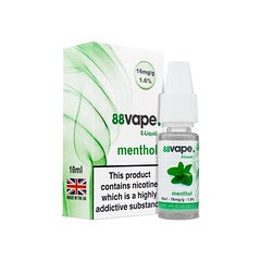 88 Vape E-Liquid Menthol 16mg 1.6% 10ml 20 Pack