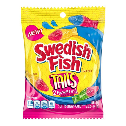 Swedish Fish Tails 2 Flavours In 1 141g