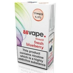 88 Vape E-Liquid Fresh Blueberry 11mg 1.1% 10ml