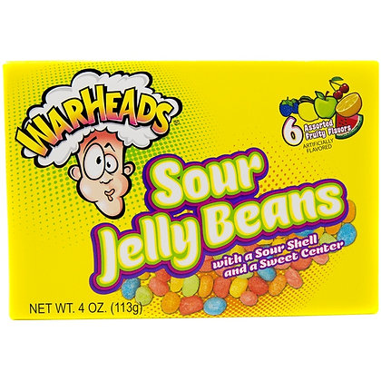 Warheads Sour Jelly Beans (Theatre Box) 113g