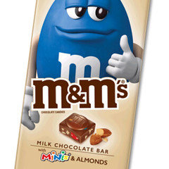 M&M's Extra Large Tablet Bar Almond with Mini's 110g x 12