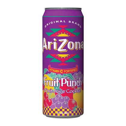Arizona Fruit Punch Fruit Juice Cocktail 680ml 24 Pack