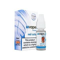 88 Vape E-Liquid Red Cola 16mg 1.6% 10ml