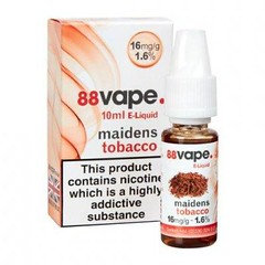 88 Vape E-Liquid Maidens Tobacco 16mg 1.6% 10ml 20 Pack