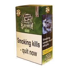 Double Platinum Blunt Wraps Green 25 x 2 Packs