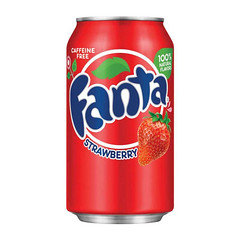 Fanta Strawberry Flavoured Soda 355ml 12 Pack