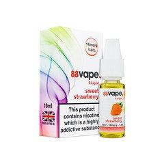 88 Vape E-Liquid Sweet Strawberry 16mg 1.6% 10ml