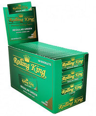Rolling King Regular Green Cut Corners 100 booklets