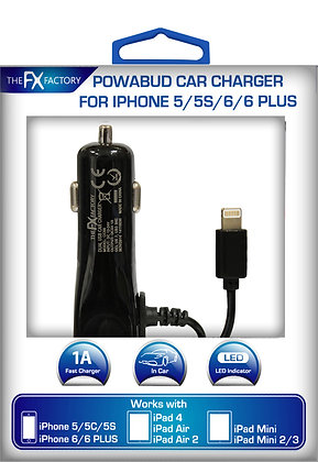 FX Factory Iphone 6/6Plus/5/5c Car Charger
