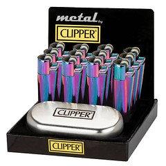 Clipper Blue & Green Pattern Lighter 12 Pack
