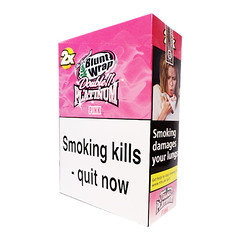 Double Platinum Blunt Wraps Pink 25 x 2 Packs