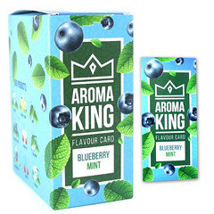 Aroma King Flavour Cards Blueberry Mint 25 Pack