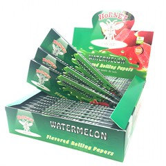 Hornet Watermelon King Size Flavoured Rolling Paper 25 Per Box
