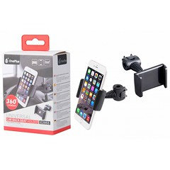 E2955 Universal Mobile Phone Holder for Car Seats and Bicycles (Black)