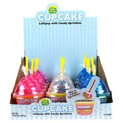 Cup Cake Lollipop With Candy Sprinkles 456g 12 Pack