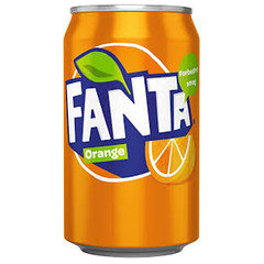 EU Fanta Orange 330ml Can 24 Pack