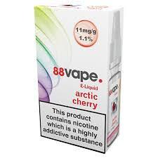 88 Vape E-Liquid Arctic Cherry 11mg 1.1% 10ml