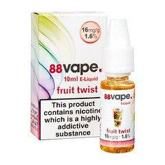 88 Vape E-Liquid Fruit Twist 16mg 1.6% 10ml 20 Pack