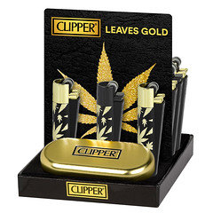 Clipper Gold Leaves Lighter 12 Pack