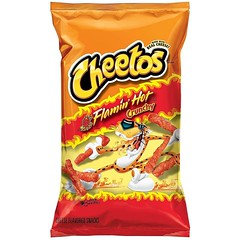 Cheetos Flamin' Hot Crunchy 226.8g 10 Packets/Box