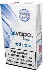 88 Vape E-Liquid Red Cola 11mg 1.1% 10ml 20 Pack