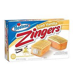 Hostess Zinger Iced Vanilla 360g 10 Pack
