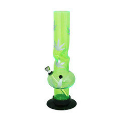 Acrylic Waterpipe Leaf Design Approx 12 inches SM0370