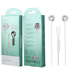 MTK Stereo Earphone With Microphone CT692 (White)