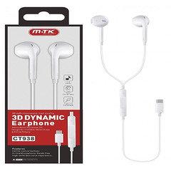MTK 3D Dynamic Earphone CT938 (White)
