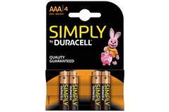 Duracell Simply AAA/4 Pack 10