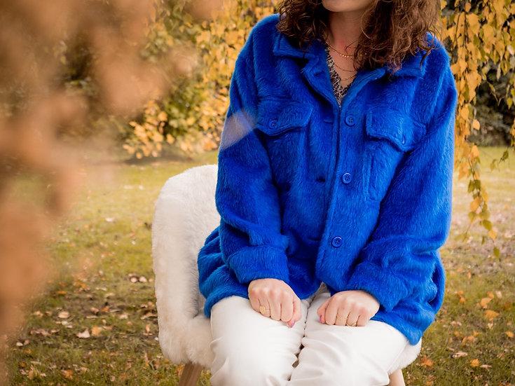 Veste bleue électrique