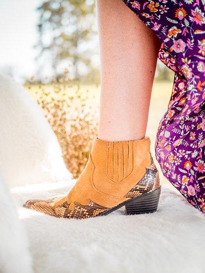 Boots western kamel