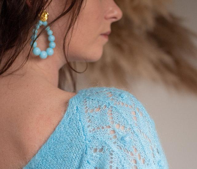 Boucles d'oreilles Loca bleues