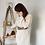 Thumbnail: Pull robe en mailles écru