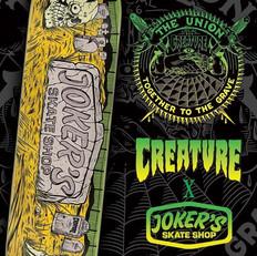 Jokers Skate Shop x Creature Boards