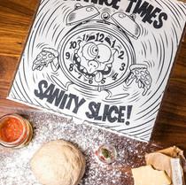 Sixteen Bricks Pizza Box Art