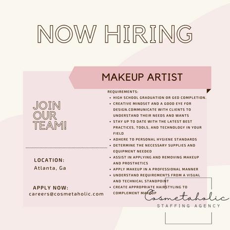 Cosmetaholic Job Ads - Makeup Artists.png