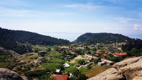 view from the village