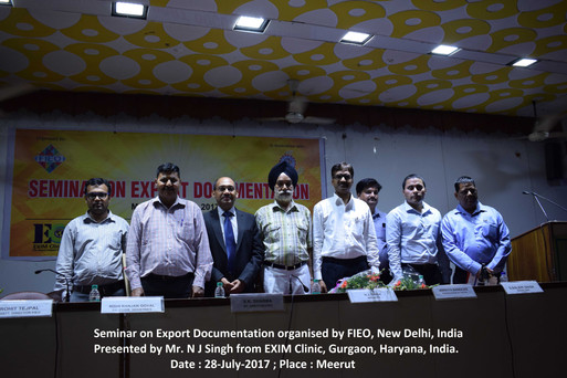 N J Singh - EXIM Experts with Government officials