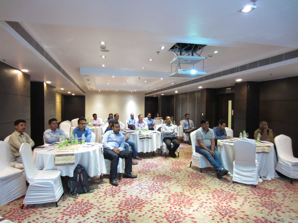Open house training session of Export-Import where N J Singh addressing to exporters/importers.