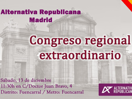 Congreso de la Federación de Madrid de Alternativa Republicana