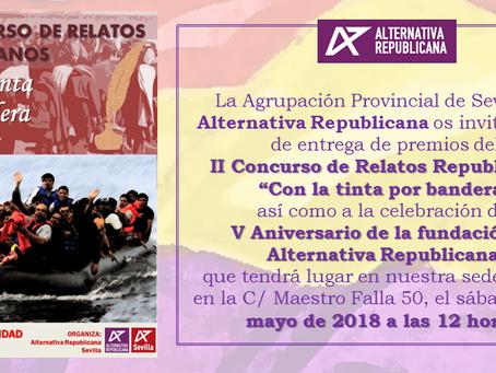 Sevilla: Velada literaria y celebración del V aniversario de Alternativa Republicana.