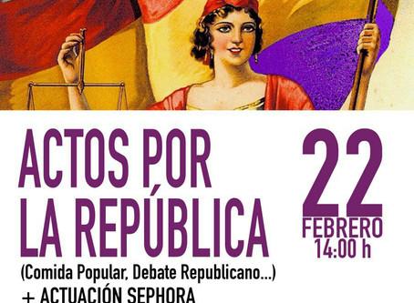 Actos por la República con motivo de la constitución de la Federación Valenciana de ALTER