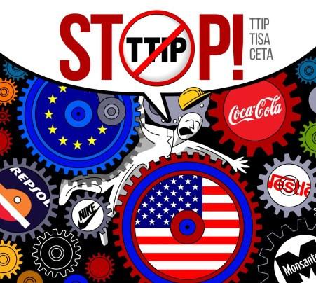 Las movilizaciones en el Día de Acción Europeo contra el TTIP,  y otros acuerdos de libre comercio y el fracking mostrarán la  repulsa ciudadana contra el intento de imponer más políticas  capitalistas