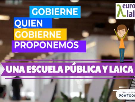 VÍDEO: Gobierne quien gobierne, Europa Laica propone una escuela pública y laica, la religión confes