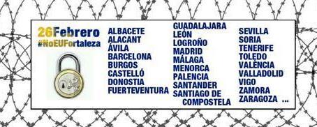 26 de febrero ¡No a la Europa fortaleza!