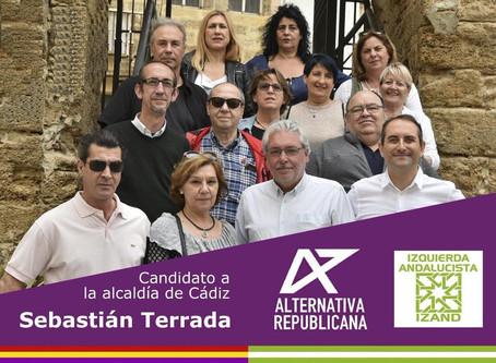 Presentación de la candidatura municipal de Alternativa Republicana en Cádiz.
